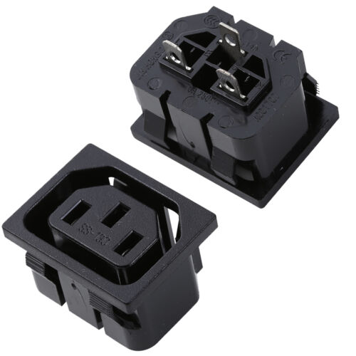 Universal Female IEC320 C13 Letter Base Connector 1 Plug Adapter 2 5 10 Pack.