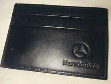 Mercedes Benz Bifold Wallet Genuine Leather 3 Credit Card Holder /& 1 ID Window