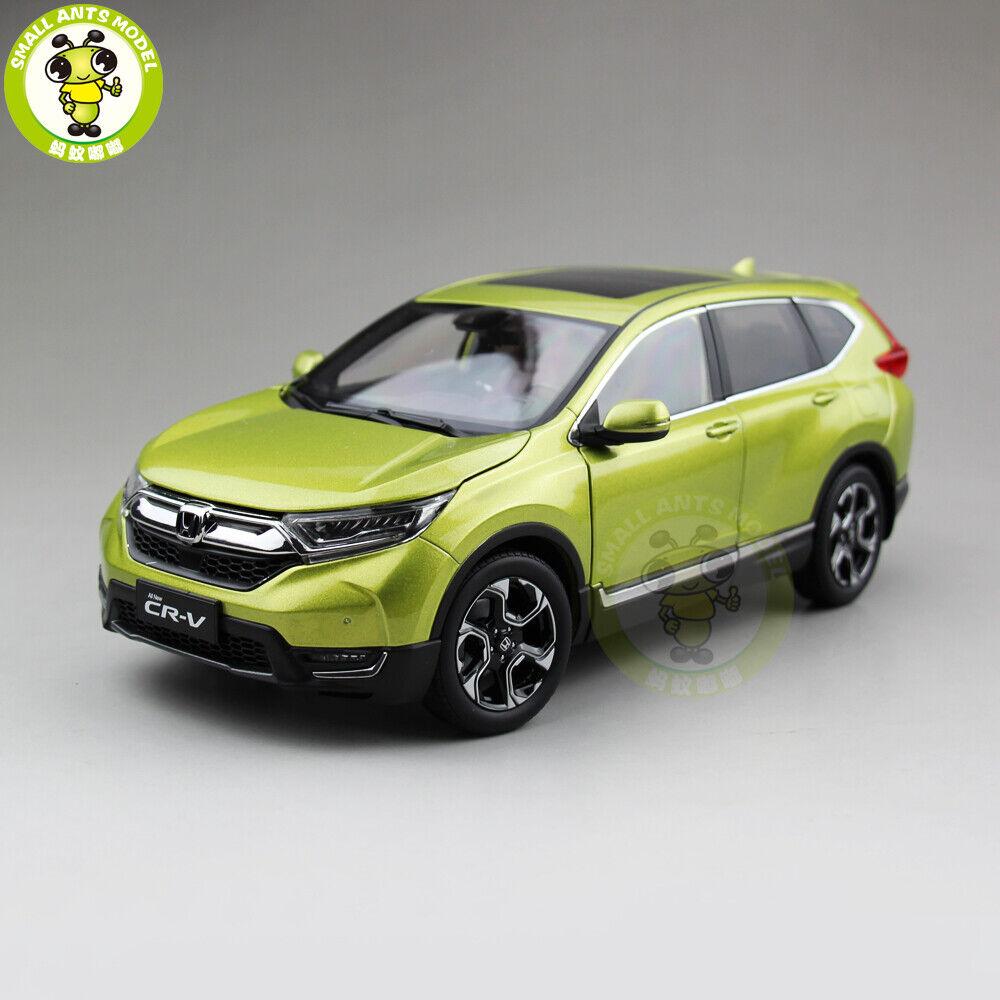 1 18 HONDA CRV CR-V sport utility vehicle Diecast Metal Voiture Véhicule utilitaire sport modèle jouets garçon fille eau Jaune