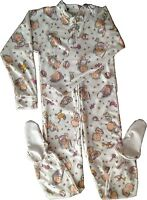 Baby Pants Adult Footed Babies Jammies, Locking Zipper For Easy Diaper Changes