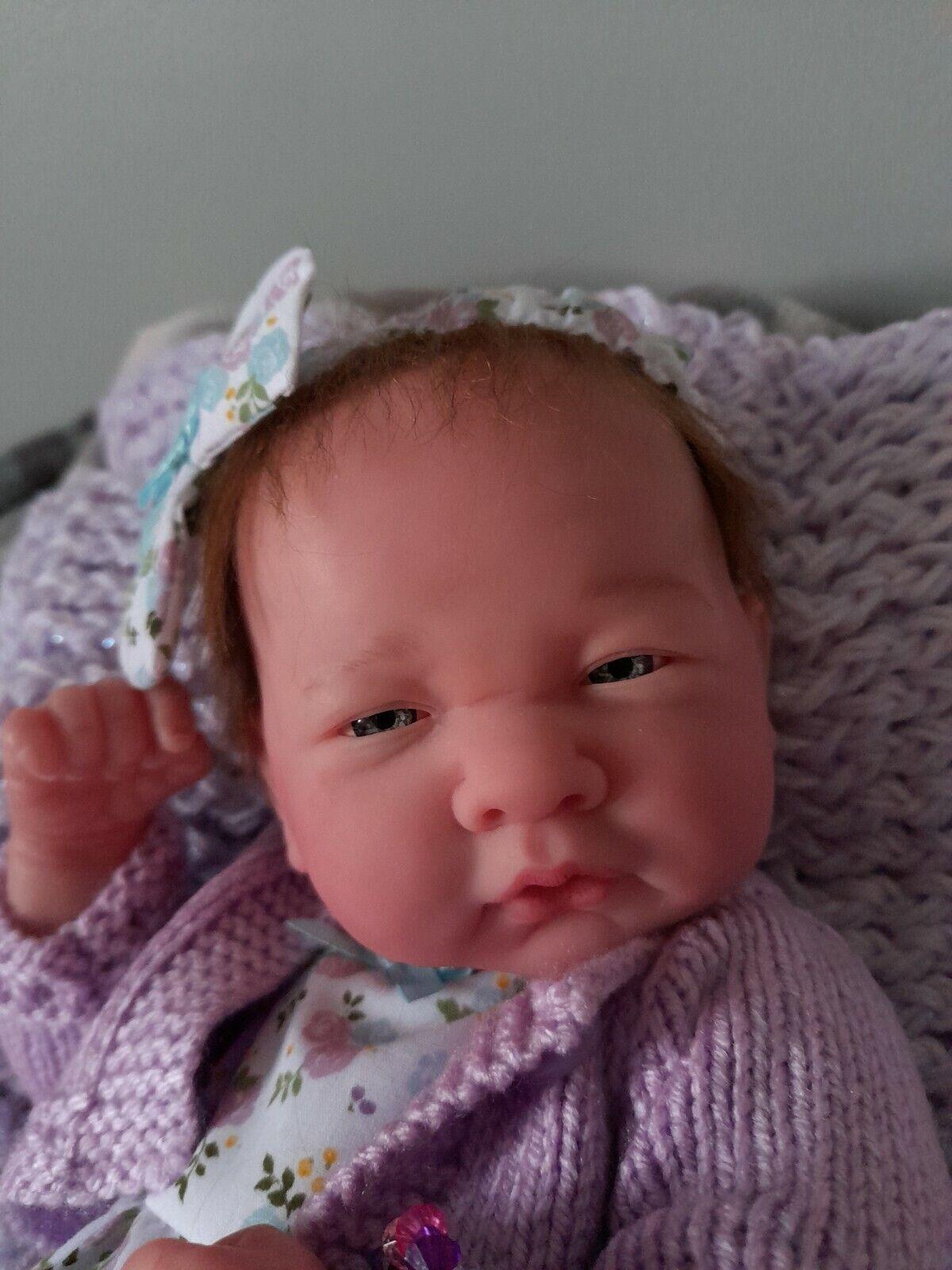 """Berenguer Full Reborn Baby Premature Girl Doll 16"""" Gift Set"""