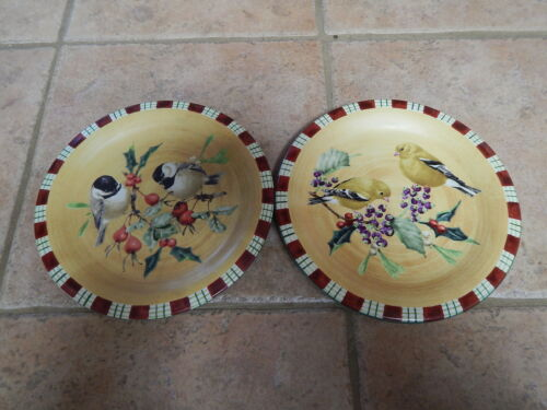LENOX WINTER GREETINGD EVERYDAY SALAD DESSERT 2 PLATES #5