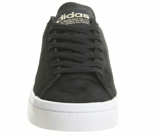Womens Adidas Court Vantage Trainers Black Cyber Metallic Black Trainers Shoes