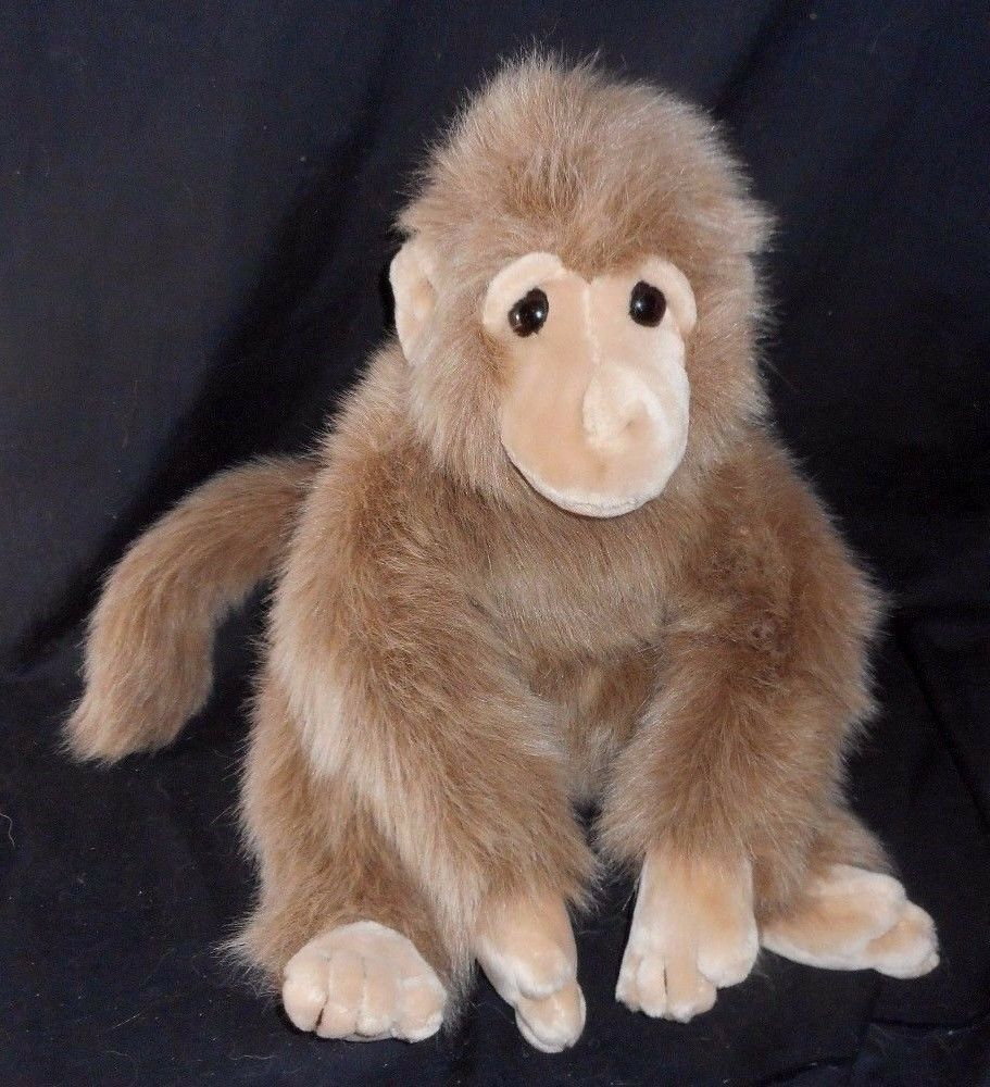 18  BIG VINTAGE TY CLASSIC 1993 JOSH braun FURRY MONKEY STUFFED ANIMAL PLUSH TOY