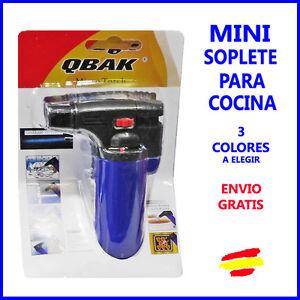 MINI Soplete de gas para COCINA  repostería FLAMBEAR  recargable QBAK 3 COLORES