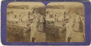 Pompei-Italia-Foto-Jean-Andrieu-Vintage-Stereo-PL39L5-Albumina