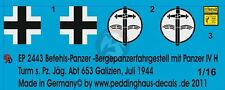 Peddinghaus 1/16 Befehlspanzer Pz.IV Hybrid Tank Markings s.Pz.Jg.Abt.653 2443