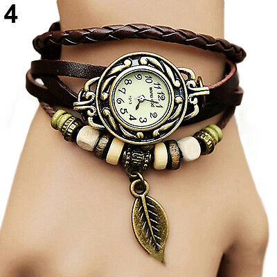 Watch Bracelet Tree leaf Detail Quartz Movement Wrist Watch for Girl Women B41U