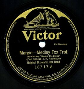 ORIGINAL-DIXIELAND-JAZZ-BAND-on-1920-Victor-18717-Margie-Palesteena