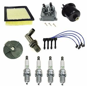 For Distributor Cap /& Rotor 4 Spark Plugs Spark Plug Wire Set for Honda Accord