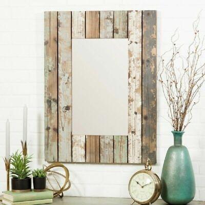 Farmhouse Wall Decor Mirror Rustic Bathroom Vanity Hallway ...