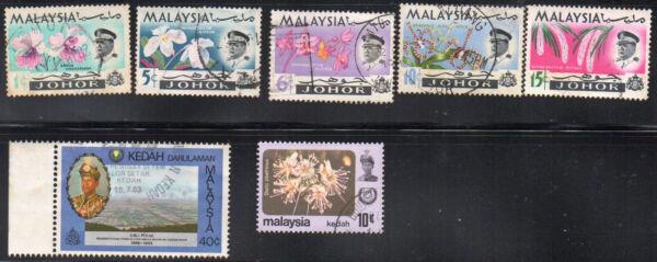 2019 Nouveau Style Timbres De Malaisie Johore A14 (5) Kedah A10 A15 Set Lot