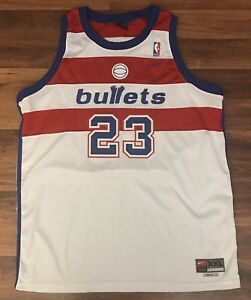 buy online ac9ef 6a824 Details about Nike Washington Bullets Michael Jordan Jersey (Size XXL)