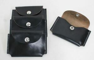 4-x-Black-Leather-Card-Holder-Case-Wallet-w-Press-Stud-Front-Flap-13-x-9cm