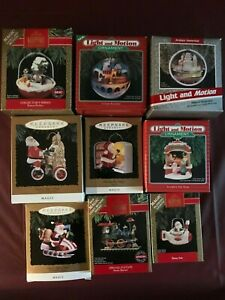 HALLMARK-ORNAMENTS-9-in-this-lot-of-collectibles