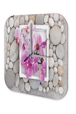 Amabile Orologio Da Parete Negozio Di Fiori Decorazione Orchidee Muro Acrilico Orologio Retrò-mostra Il Titolo Originale Prestazioni Affidabili