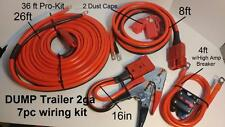 2GA 36-FT Hi-amp UNIVERSAL-QUICK-CONNECT-WIRING-KIT- DUMP TRAILER-MOUNTED-WINCH