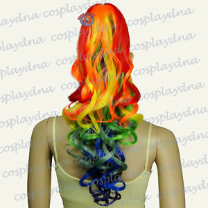 24-034-Heat-Resistant-Multicolor-Mix-Clip-on-Curl-Cosplay-Ponytail-Gothic-Lolita