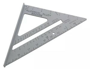"ALUMINIUM 150mm 6"" ANGLE FINDER SQUARE ROOFING RAFTER TRI-SQUARE MITRE SAW GUIDE 5032759018796"
