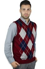 3236f6641 Men s IZOD Argyle Sweater Burgundy XXL V Neck