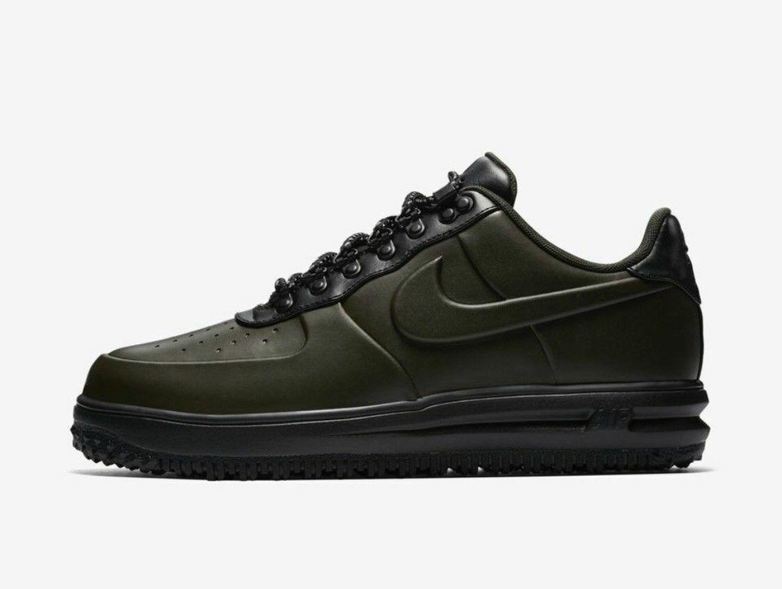 Mens Nike LUNAR FORCE 1 DUCKBOOT LOW shoes -Sequoia -AA1125 300 -Sz 11 -New