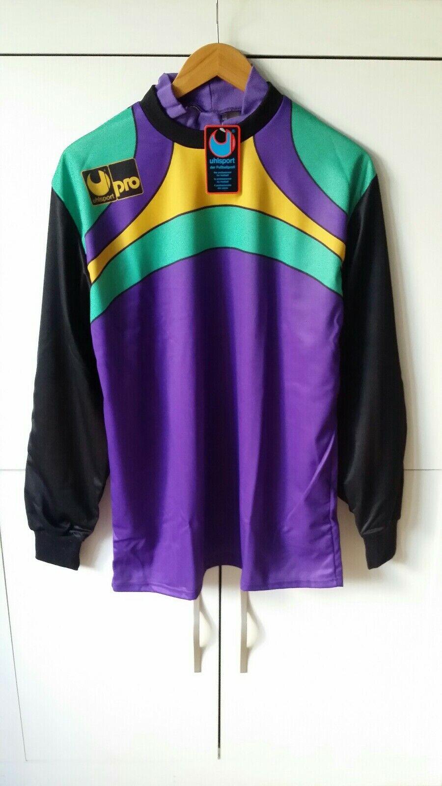 Uhlsport goalkeeper shirt 90 Talla L New ⭐ Calcio portiere maglia AS...