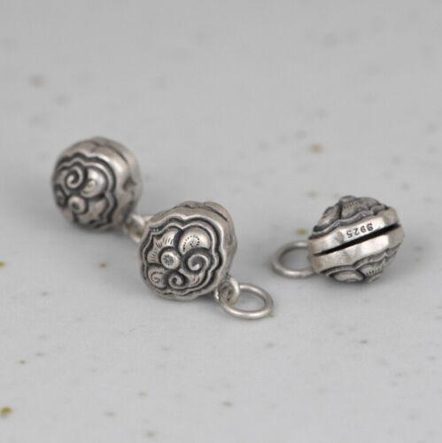 I05 Anhänger kleine Glocke Glöckchen Wolke Sterling Silber 925