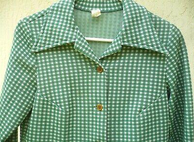 1970s super soft and cozy plaid unisex plaid shirt SM