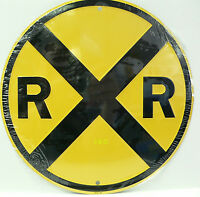 Railroad Crossing Sign For Train Hobbyist Rec Room Kids Room Free Shipping