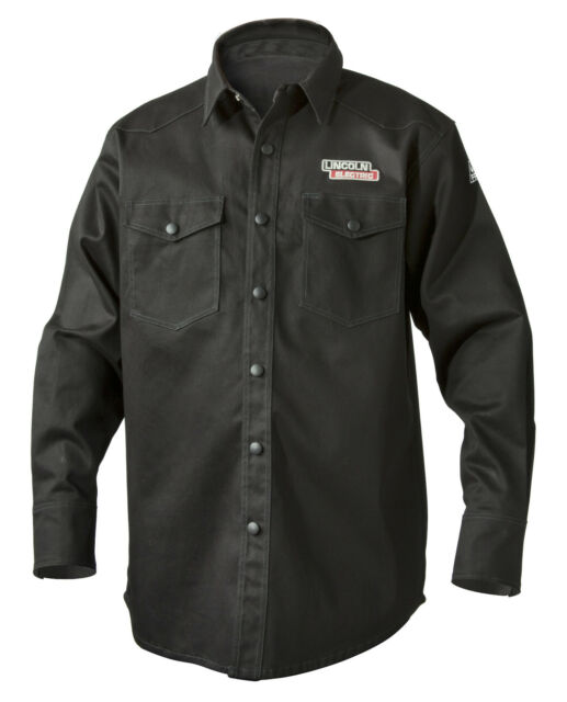 Lincoln Electric K3113 9oz Fr Black Welding Shirt 3xl