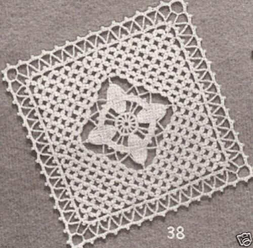 "Vintage Crochet Pattern to Make Crochet Bedspread /""Star Dust/"" 1940s Vintage"