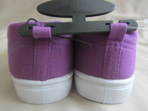 Bebe Girls Canvas Shoes Girls Size 13 1 2 3 Purple Black Silver Studs NWT