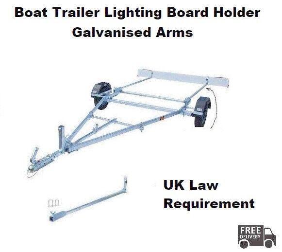 Boat Trailer Lighting Board Holder - Glavanised Steel - UK LAW REQUIREMENT
