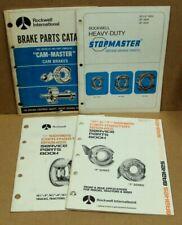 Vtg Lot4 Rockwell International Brake Parts Catalog Cam Master Stopmaster