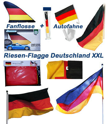Robuste Deutschlandflagge f/ürs Auto Nations Fanartikel Autofahne Inklusive Halterungs-Clip