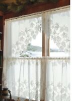 "Heritage lace Woodland -68""x 40""drop Swag Pair- White."