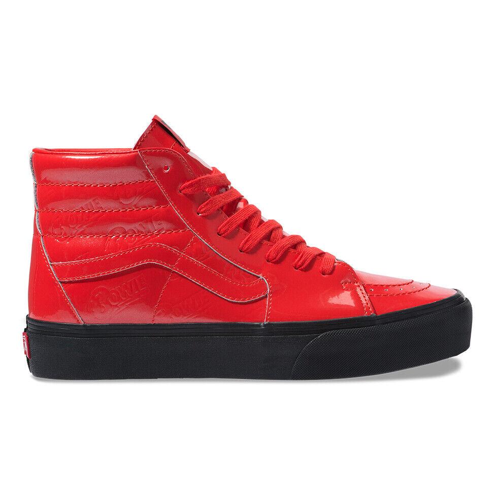 Nuevo VANS BOWIE SK8-Hi plataforma 2.0 X DAVID Rojo Zapatillas De Edición Limitada de 2019