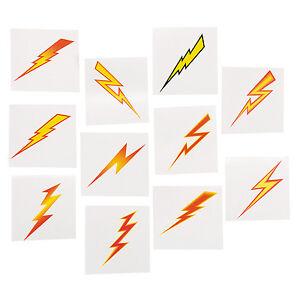 SUPERHERO-PARTY-TATTOOS-Lightning-Bolt-Temporary-Tattoo-Pack-of-36-Free-Postage