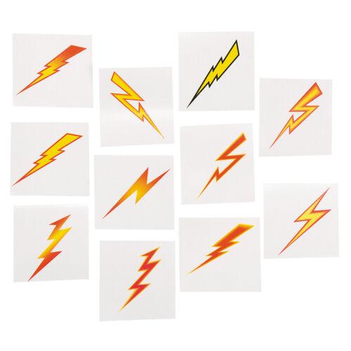 SUPERHERO PARTY TATTOOS Lightning Bolt Temporary Tattoo Pack of 36 Free Postage