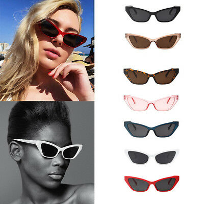 836e34f8a88f7 Small Cat Eye Fashion Women Sunglasses Flat Top Retro Vintage Clout Goggles  CHZ
