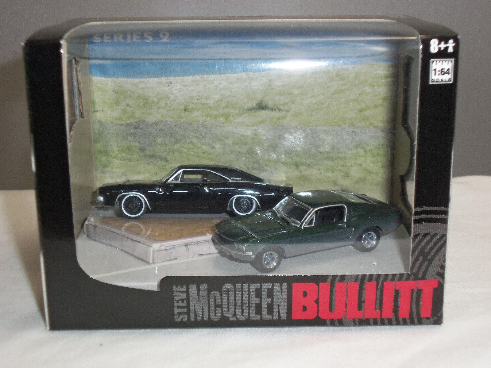 vertlight 56020 Bullitt Steve McQueen Ford Mustang + méchant Voiture Diecast diorama