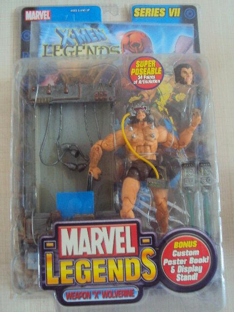 MARVEL LEGENDS SERIES 7   WOLVERINE WEAPON X 2004 TOY BIZ NEUF  X-MEN LOGAN