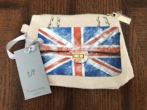Weekend by Thursday Friday Canvas Britain England Flag/Union Jack Purse Clutch