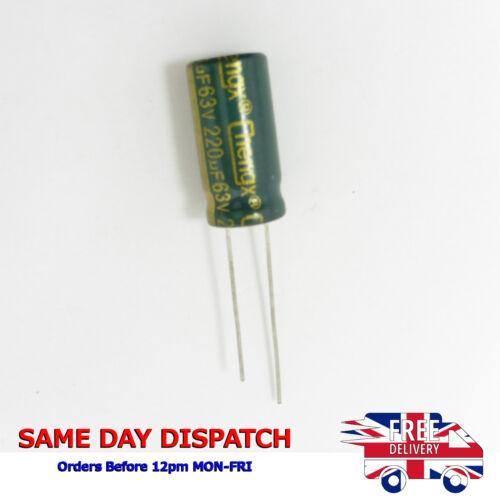 Condensatori Elettrolitici 63V 220uF basso ESR Autentico chengx ad alta frequenza H65