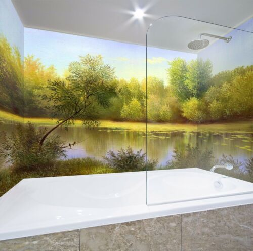 3D Forest Lake Shadow WallPaper Bathroom Print Decal Wall Deco AJ WALLPAPER UK