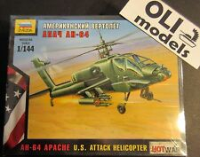 1/144 AH-64 APACHE US Attack Helicopter - Art of Tactic HOT WAR - Zvezda 7408