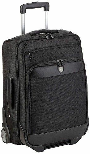 Laptop Case Trolley Wheeled Overnighter Black Monolith Executive 3004