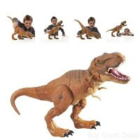 T-rex Action Figure Jurassic Park Dinosaur Electronic Toy Roar Stomp Sound Gift