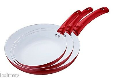 5 Pc Ceramic Pan Set cooker induction Non Stick frying Pans