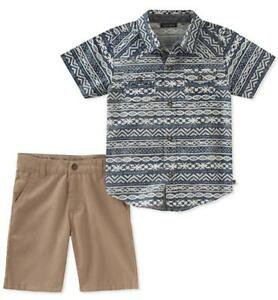 1a7fdbc62 Lucky Brand Infant Boys Printed Woven Shirt 2pc Short Set Size 12M ...